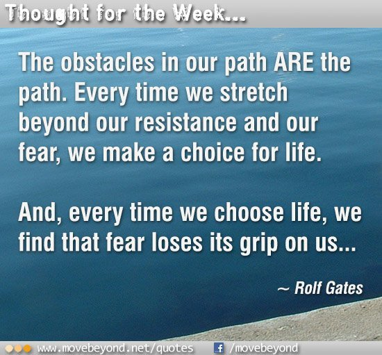 Obstacles are the path
